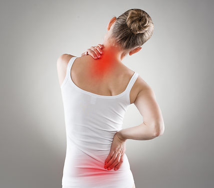 Spine osteoporosis. Scoliosis. Spinal co