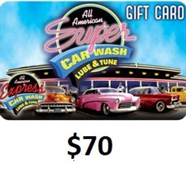 $70 GIFT CARD