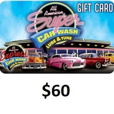 $60 GIFT CARD