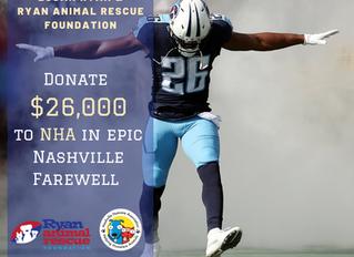 RARF Donates $26,000 to NHA in Nashville Farewell