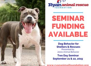 RARF Opens funding opps for Behavior Seminar