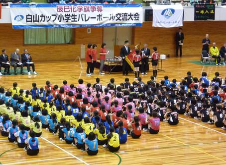 辰巳化学旗争奪 第6回白山カップ小学生バレーボール大会