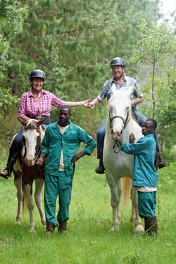 Ouma and Oupa riding in Zomba