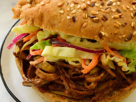 Vegan Pulled Pork Sandwich (From A Banana Peel!)