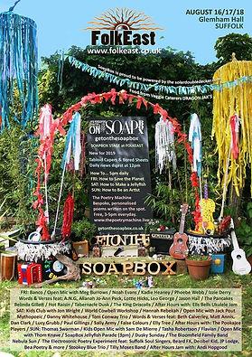 FolkEast Soapbox Stage Gig Poster False Colours British Male/Female Happy/Sad Indie Jangle Folk Duo