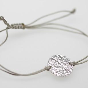 Bracelet Weissgold und Textil