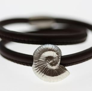 Bracelet Leder mit Silber