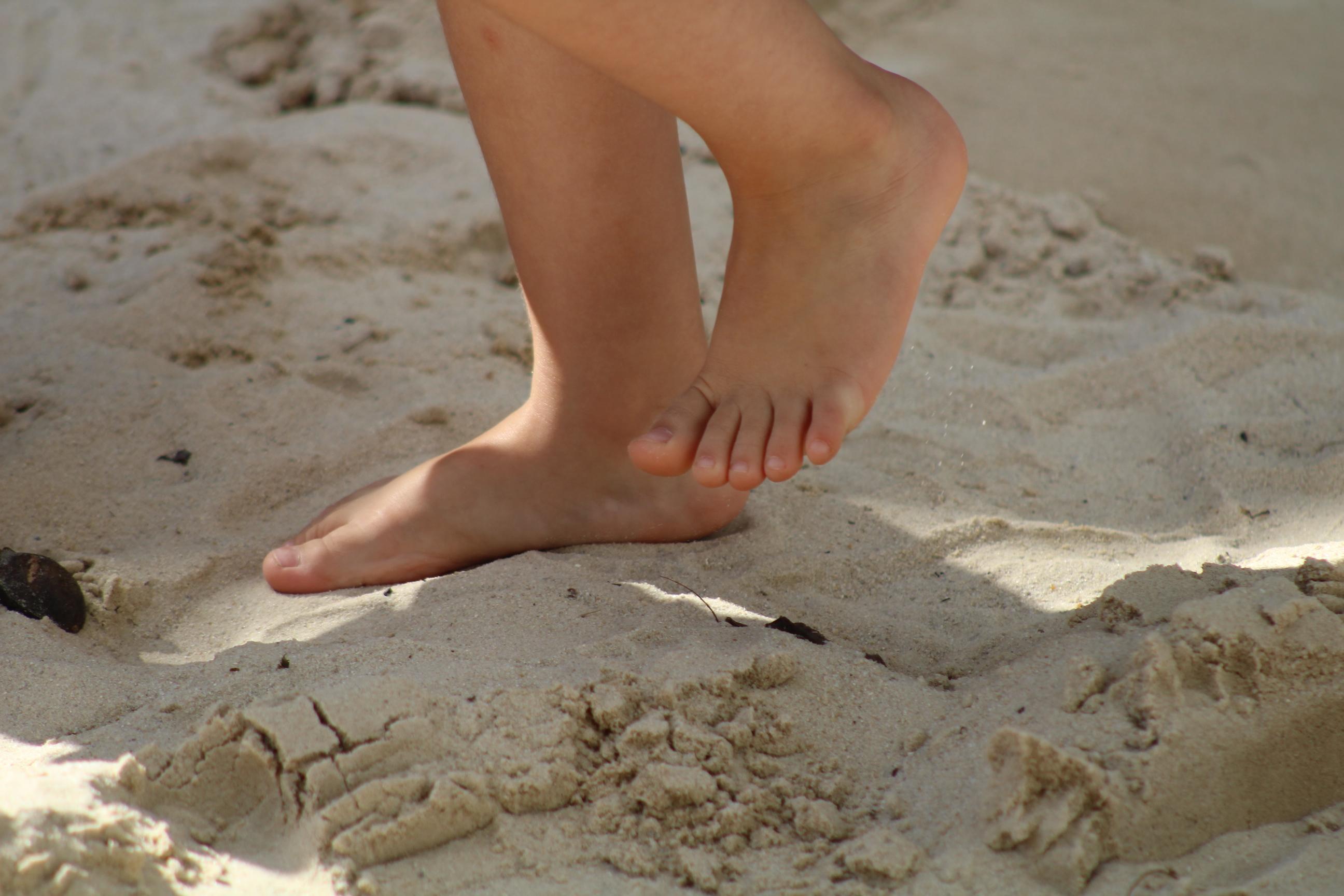 Sensações - Pés na areia