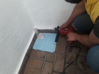toma de muestra dl material de constucion, sistema aquapol, sistemade secado deparede, humeda en paredes