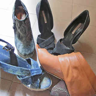 zapatos con moho