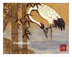 「Tsuru 鶴」  shinya uno illustration