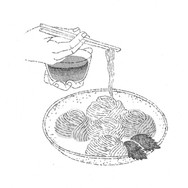 愛媛松山の五色素麺.