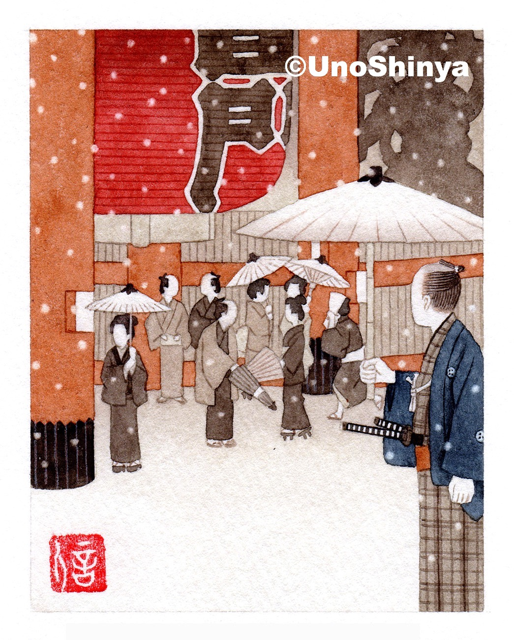 「Botanyuki 牡丹雪」| shinya uno illustration
