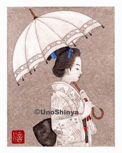 「Parasol 日傘」  shinya uno illustration