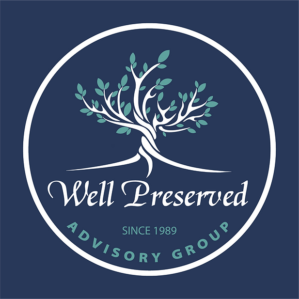 Well Preserved_Logo_white_accent_navyBac