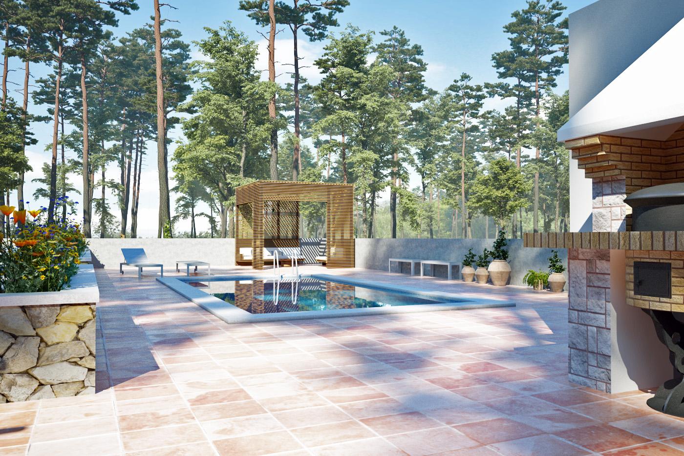 3D Exteriores Villa en Benicassim