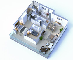 PLANTA PISO 3D