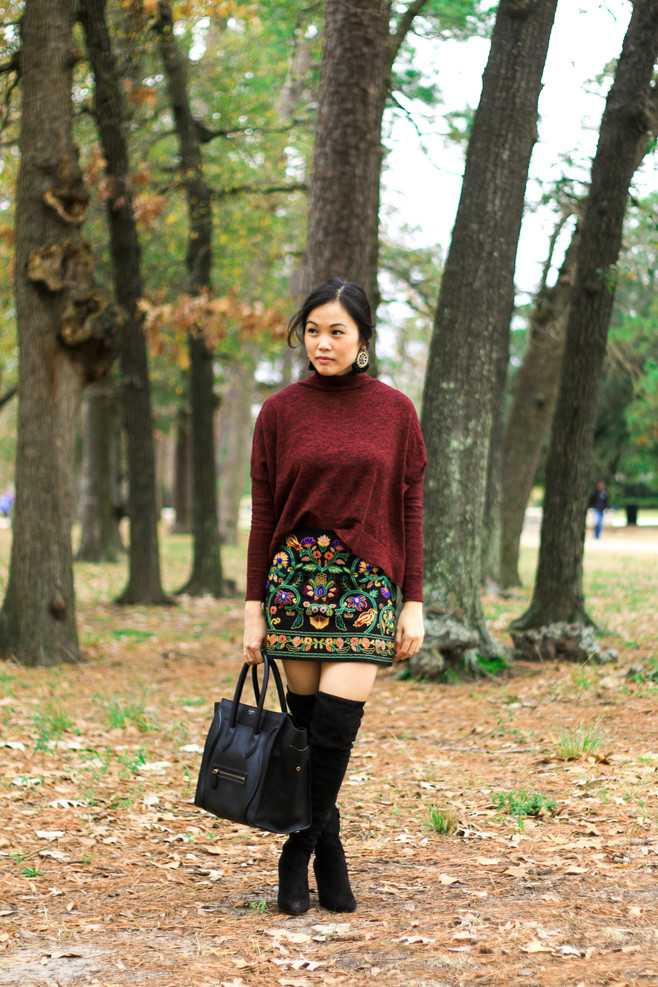 The Embroidered Mini Skirt