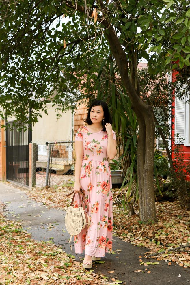 A Vibrant Floral Dress