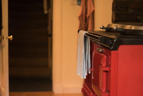 Beautiful red heat storage cooker in vin