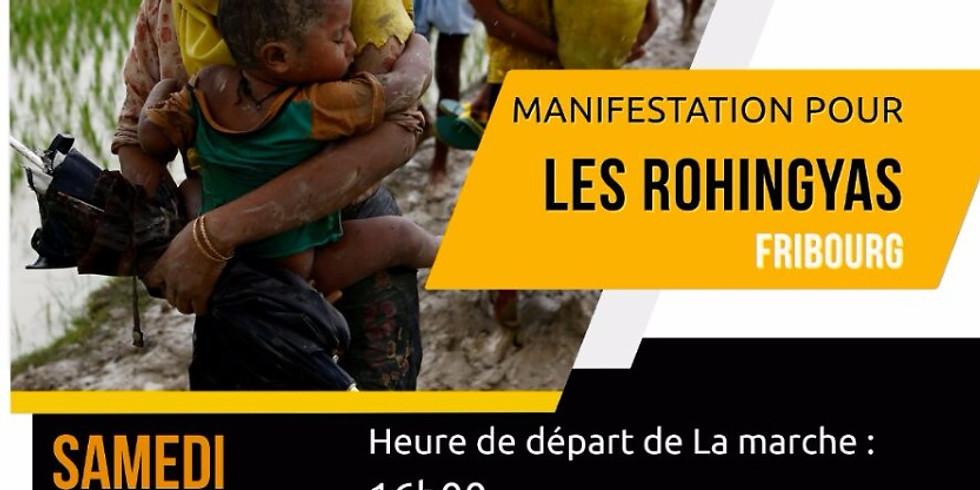 MANIFESTATION POUR LES ROHINGYAS