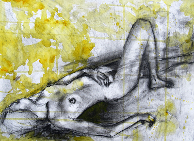Nude Lying in Yellow
