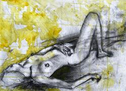 Nude Lying in Yellow