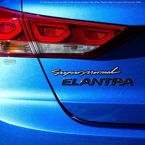 Griben Car Emblem Silver Slogan Badge 30211 for Hyundai Elantra AD 2017~