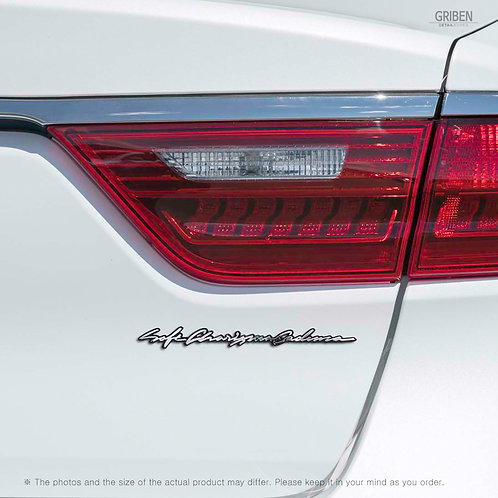 Griben Car Emblem Handwriting Metal Chrome Badge 70334 for Kia Cadenza K7