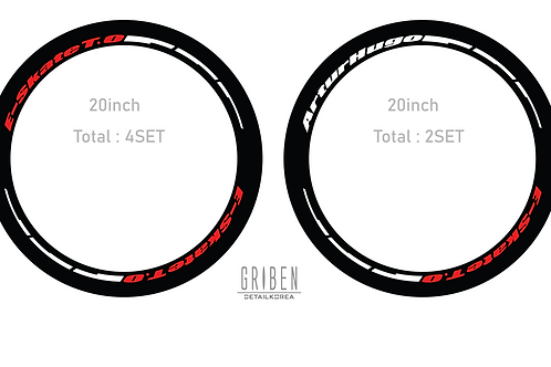 GRIBEN Custom Tire Lettering Stickers