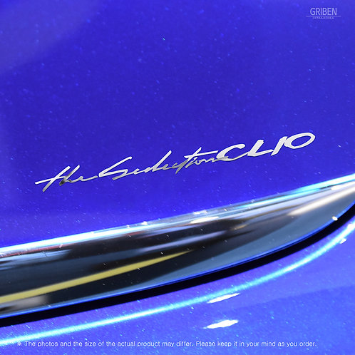 Griben Car Slogan Chrome Metal Sticker Pair 60280 for Renault CLIO