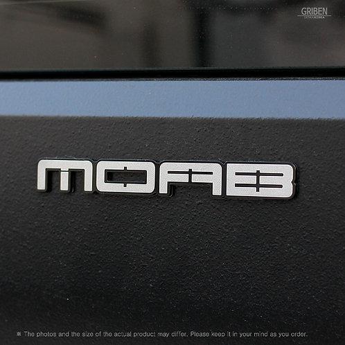 Griben Car Emblem Metal Matte Chrome Badge 70348 for Jeep WRANGLER