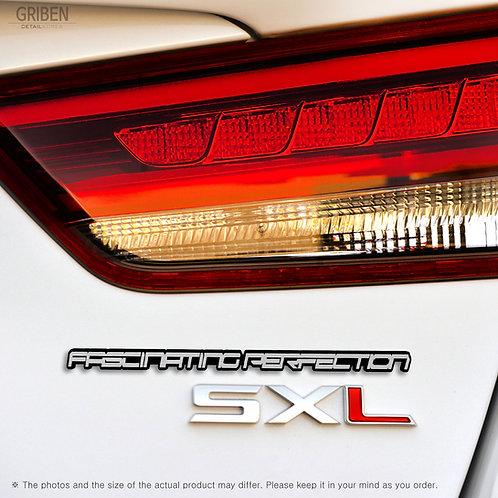 Griben Car Emblem Slogan Hairline Silver Lettering Badge 30222 for Kia K5 Optima