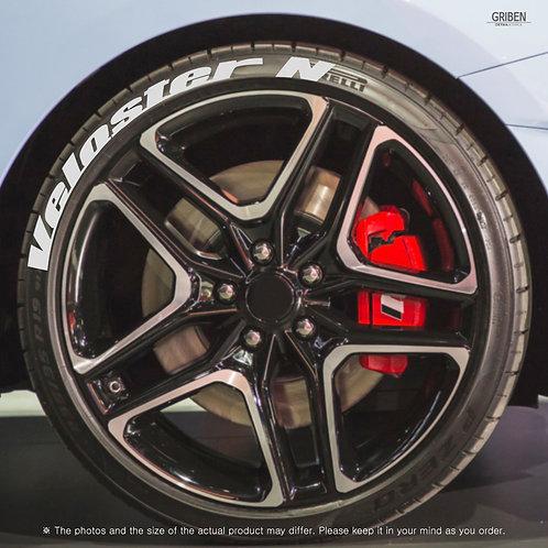 GRIBEN Tire Lettering Sticker (Fit:Veloster N) TR014