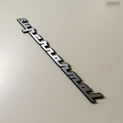 Griben Car Emblem Silver Slogan Badge 30213 for Hyundai Elantra AD 2017~