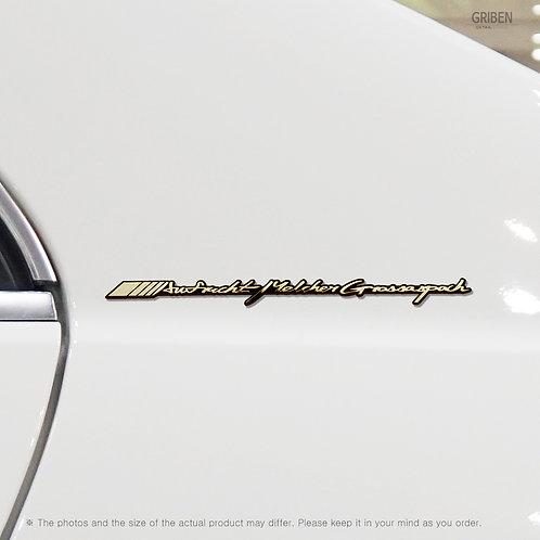 Griben Car Emblem Metal Gold Chrome Badge 70116G Handwriting Lettering