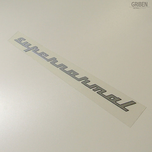 Griben Car Slogan Matte Chrome Metal Sticker Pair 60214 for Hyundai Elantra
