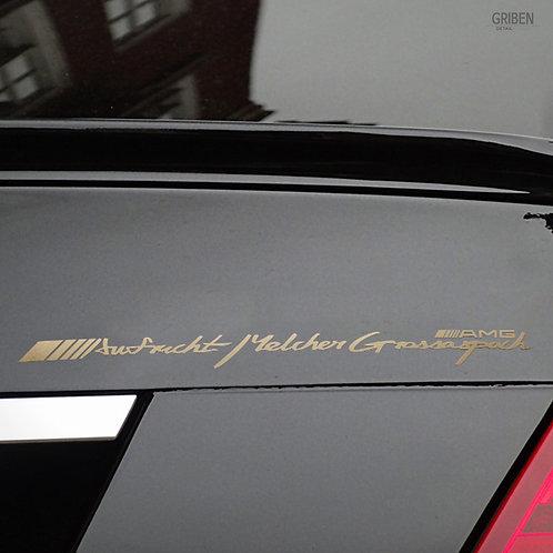 Griben Car Handwriting Chrome Metal Sticker Pair 60116G for AMG Mercedes-Benz