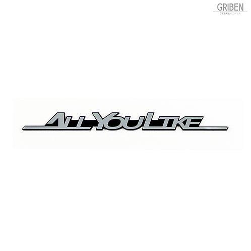 Griben Car Emblem Metal Chrome Badge 70154 for KIA Rondo, Carens