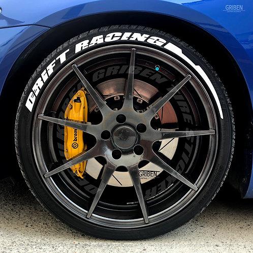 GRIBEN Tire Lettering Sticker DRIFT RACING TR022