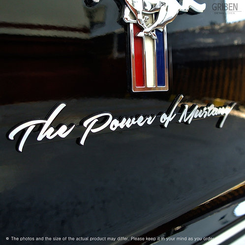 Griben Car Emblem Metal Chrome Badge 70036 for Mustang