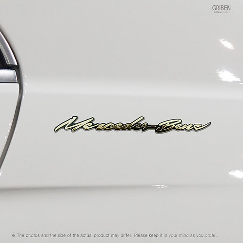 Griben Car Emblem Metal Gold Chrome Badge 70059G Handwriting Lettering