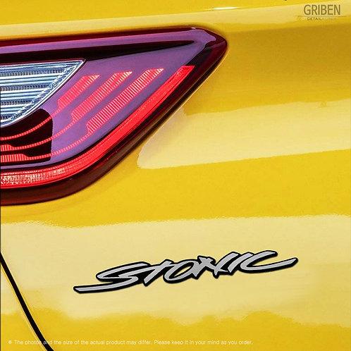 Griben Car Name Emblem Silver Badge 30236 for Kia Stonic