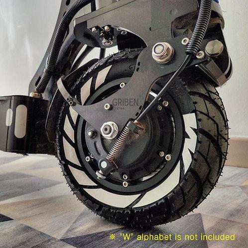 GRIBEN Tire Pattern Stickers Electric Scooter (4 Set) TRK26DD