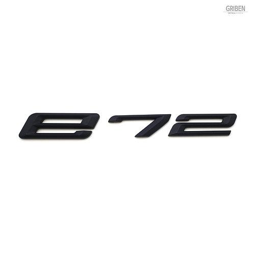 Griben E72 Code Name 3D Emblem Rough Matte Black Badge S011 for BMW X6