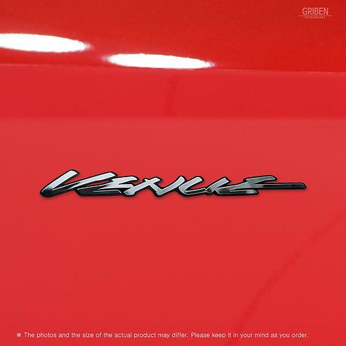 Griben 70364 Car Name Emblem Metal Chrome Badge for Venue