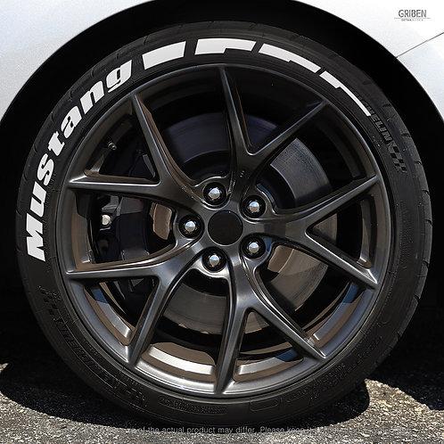 GRIBEN Tire Lettering Sticker Mustang TR010