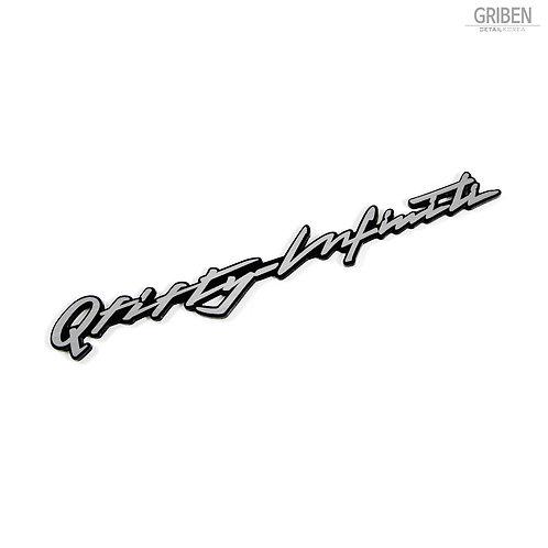 Griben Q Fifty Car Emblem Red Sliver Badge 30227 for Infiniti Q50