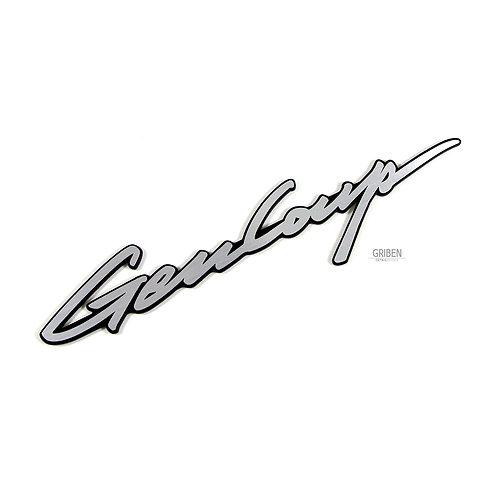 Griben Gencoup Car Emblem Silver Badge 30246 for Hyundai GENESIS COUPE