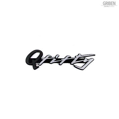"""Griben Q Fifty Car Emblem Dark Gray Sliver 4"""" Badge 30217 for Infiniti Q50"""